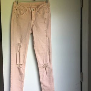 American Rag Ripped Pink Jeans Size 0